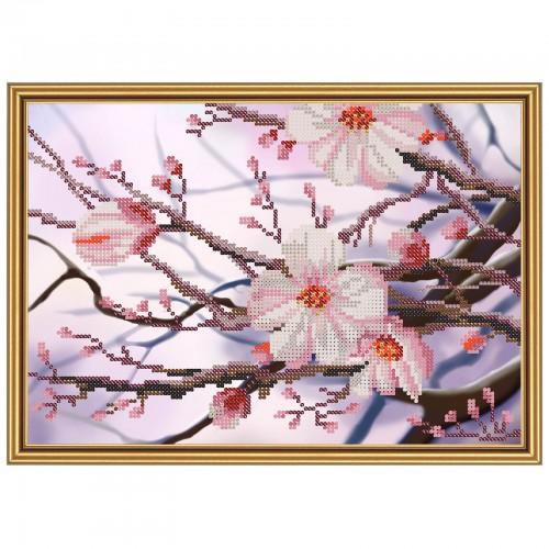 """Тканина зi схемою для вишивки бiсером """"Яблуневий цвіт"""""""