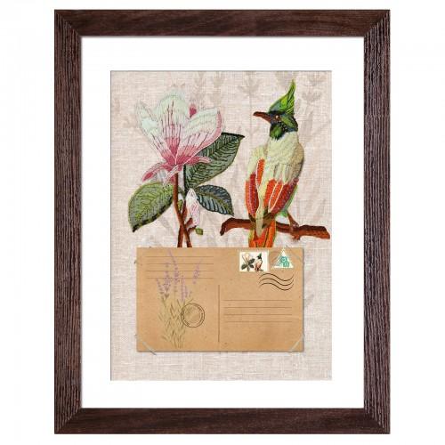 """Набір для вишивки гладдю та спеціальними стібками """"Птахи-листоноші. Вісник надії"""""""