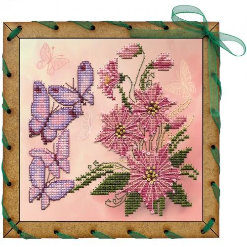 """Набір для вишивки на полімерній перфорованій основі Perfostitch """"Запашні квіти """""""