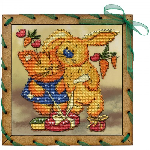 """Набір для вишивки на полімерній перфорованій основі Perfostitch """"Подарунок для двох"""""""