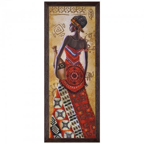 """Набір для вишивки бісером """"Африканка з кувшином"""""""