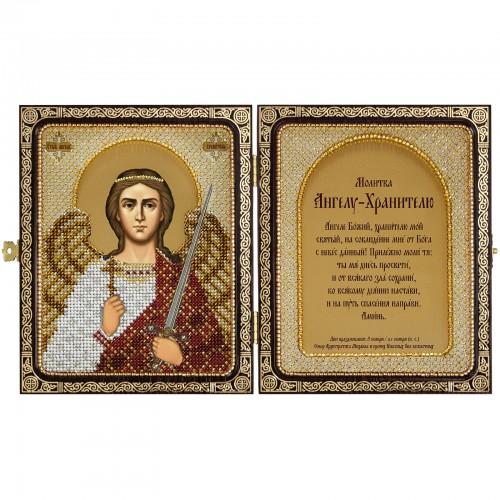 """Набір для вишивки ікони в рамці-складні """"Св.Прп.Світлана (Фотина) і Ангел Хранитель"""""""