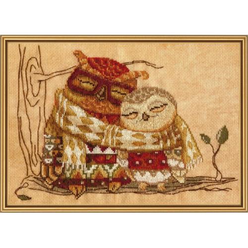 """Набір для вишивки нитками на канві з фоновим зображенням """"Сімейне тепло"""""""
