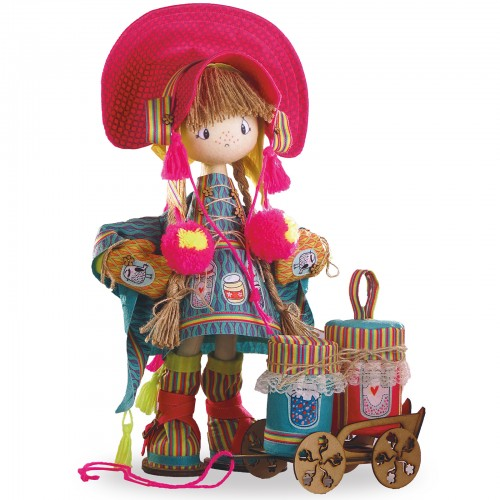 """Набір для шиття інтер'єрної каркасної ляльки """"Фінська дівчинка"""""""
