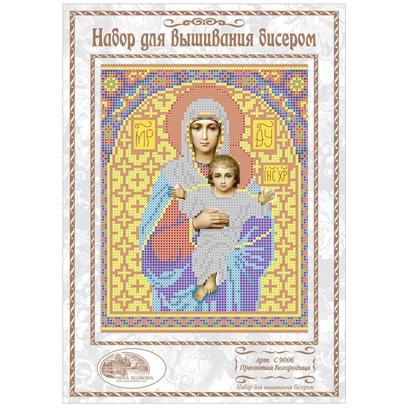"""Nova Sloboda - Набiр для вишивання iкони """"Богородиця Леушінского"""" / фото №1069"""