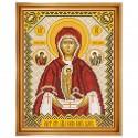 """Набор для вышивки иконы """"Богородица «Слово плоть бысть»"""""""
