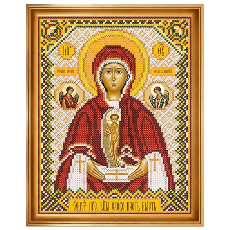 """Набiр для вишивання iкони """"Богородиця «Слово плоть бисть»"""""""