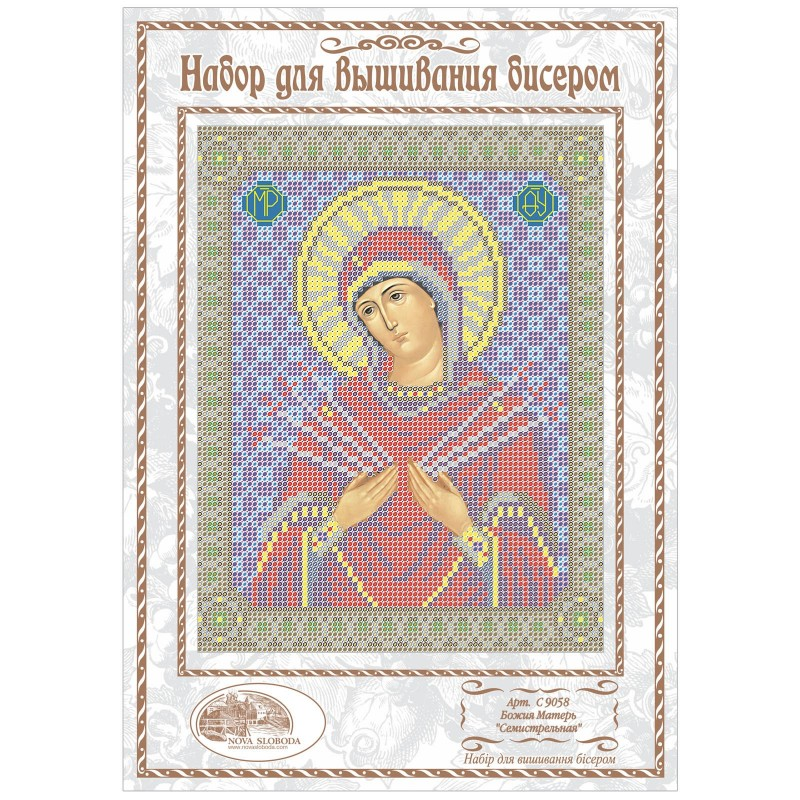 """Nova Sloboda - Набiр для вишивання iкони """"Богородиця «Пом'якшення злих сердець»"""" / фото №1147"""