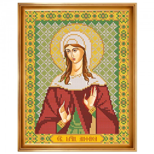 """Набор для вышивки иконы """"Св. Мц. Анфиса Римская"""""""