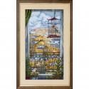 """Набор для вышивки нитками и бисером на канве с нанесенным фоновым изображением """"Окно в город"""""""