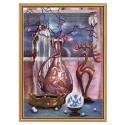 """Набор для вышивки нитками и бисером на канве с нанесенным фоновым изображением """"Магический натюрморт"""""""