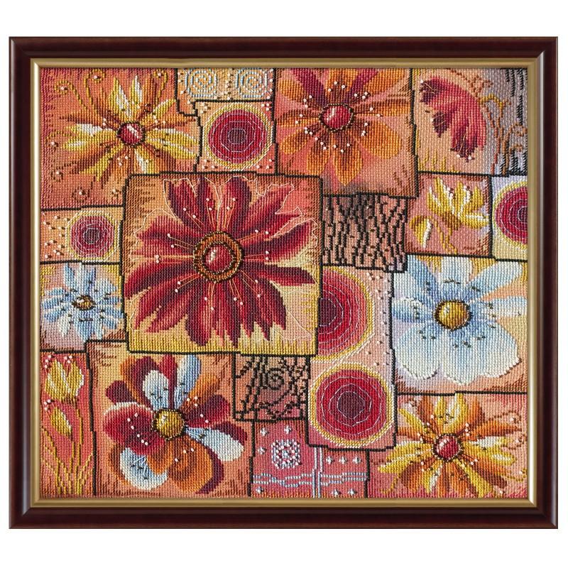 """Набір для вишивки нитками та бісером """"Квіткова мозаїка"""""""