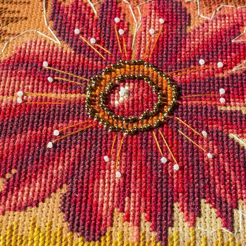 """Nova Sloboda - Набір для вишивки нитками та бісером """"Квіткова мозаїка"""" / фото №1591"""