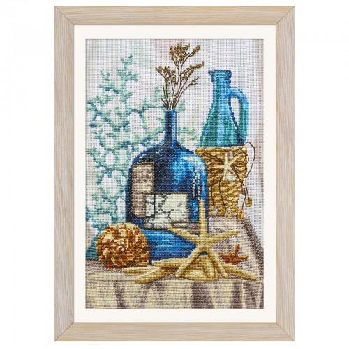 """Набор для вышивки нитками и бисером на канве с нанесенным фоновым изображением """"Дары моря"""""""