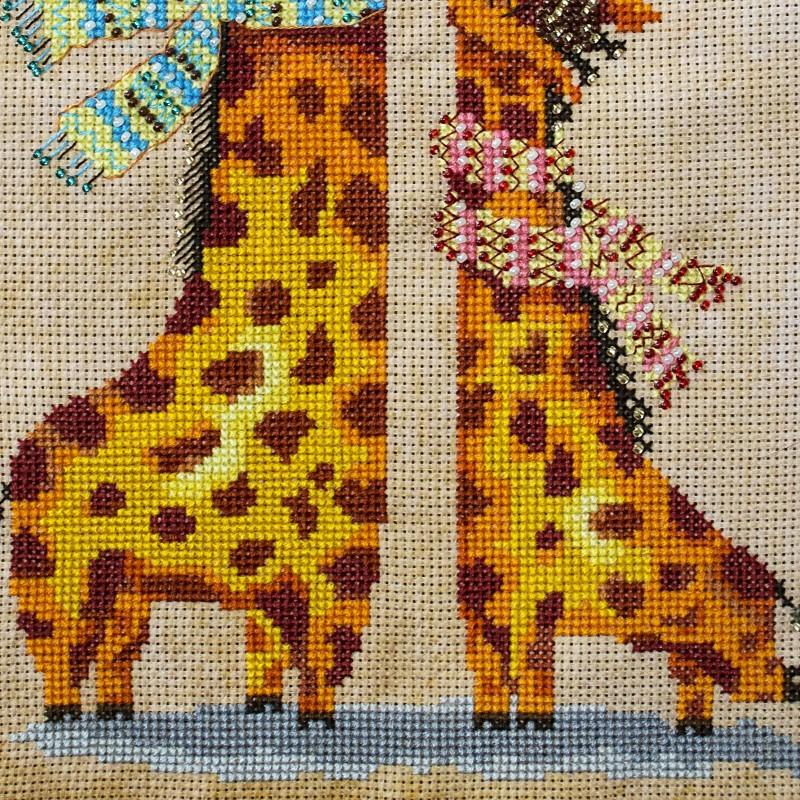 """Nova Sloboda - Набір для вишивки нитками та бісером """"Жирафики"""" / фото №1609"""
