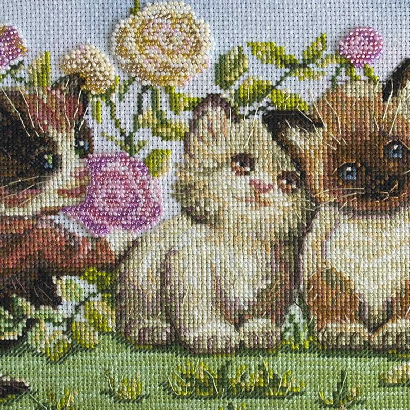 "Nova Sloboda - Набір для вишивки нитками та бісером ""Кошенята"" / фото №1634"
