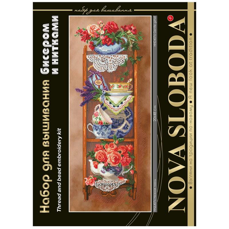 """Nova Sloboda - Набір для вишивки нитками та бісером """"Ніжна гжель"""" / фото №1654"""