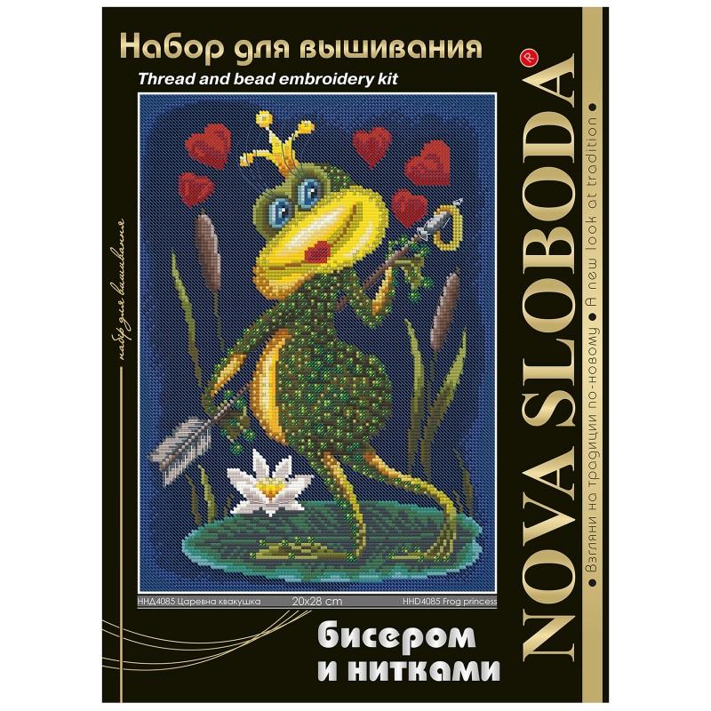 """Nova Sloboda - Набір для вишивки нитками та бісером """"Царівна квакушка"""" / фото №1660"""