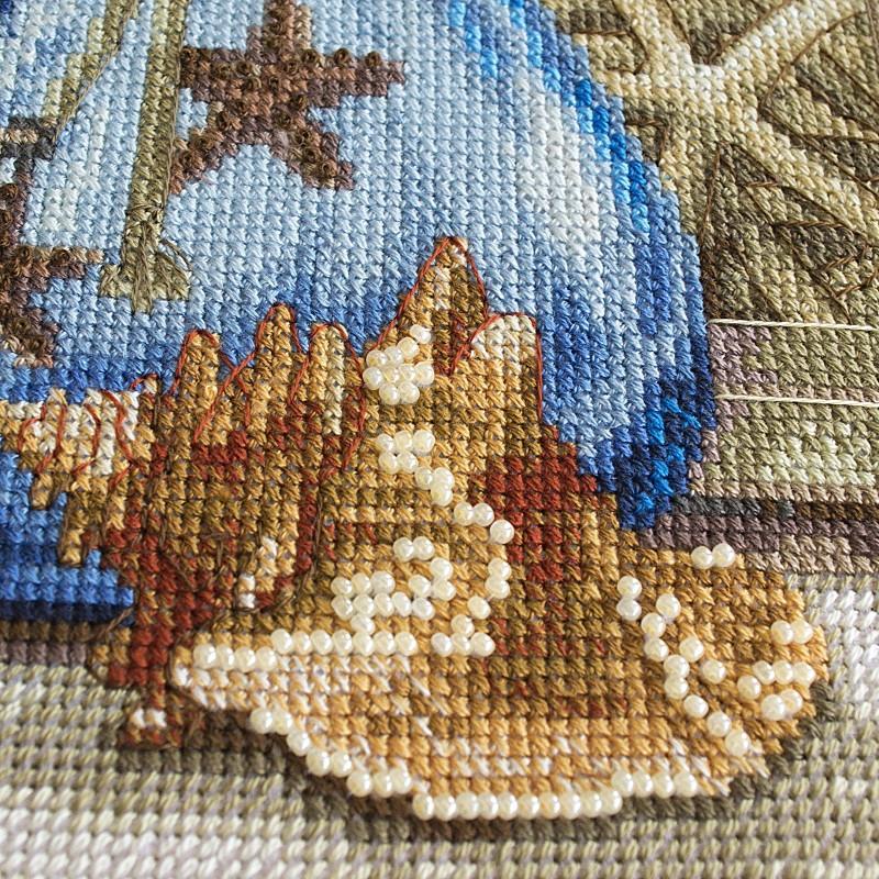 """Nova Sloboda - Набір для вишивки нитками та бісером """"Спогади про море"""" / фото №1665"""