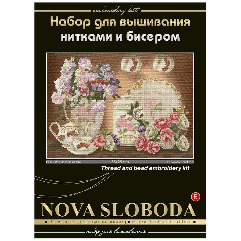 """Nova Sloboda - Набір для вишивки нитками та бісером """"Квітковий чай"""" / фото №1679"""