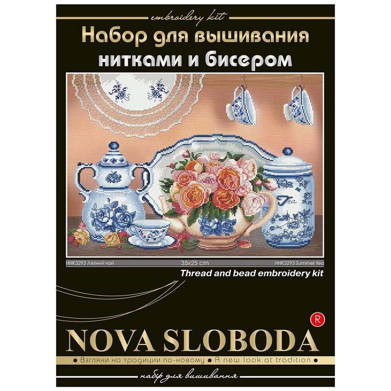 """Nova Sloboda - Набір для вишивки нитками та бісером """"Літній чай"""" / фото №1681"""