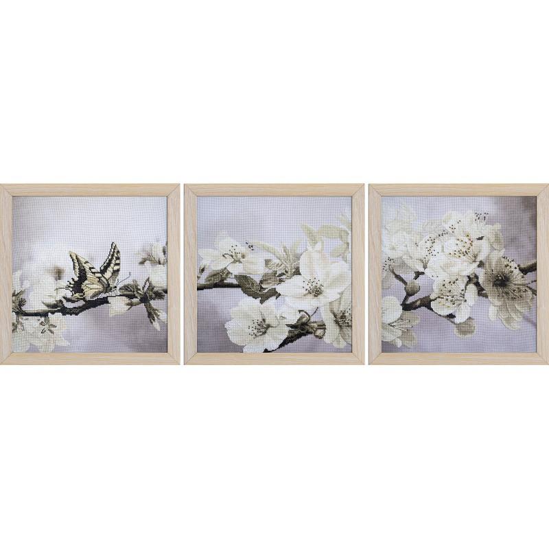 """Набір для вишивки нитками та бісером """"Квітучий сад"""""""