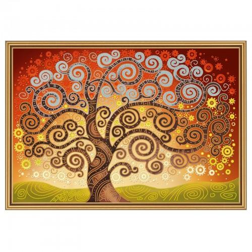 """Ткань со схемой для вышивки бисером """"Дерево счастья"""""""