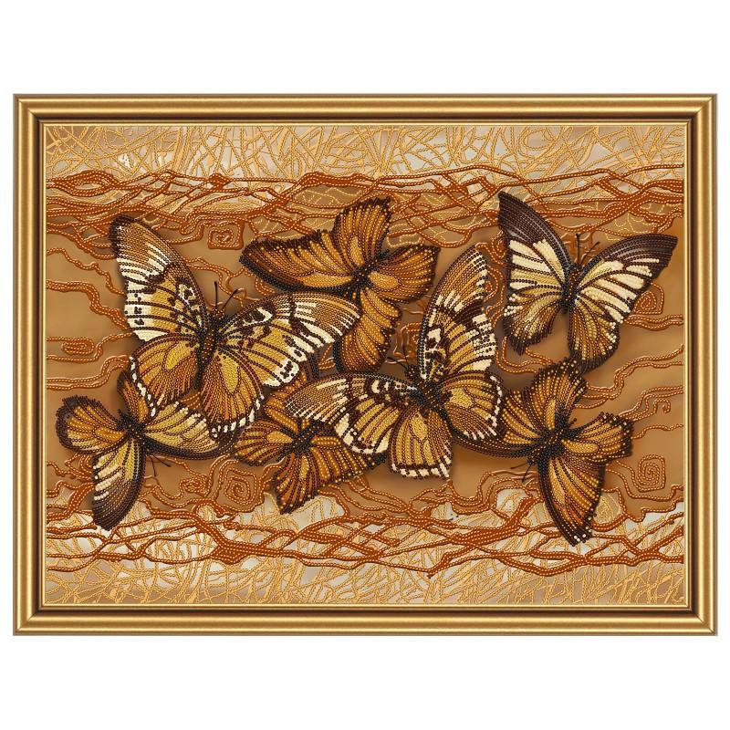 """Nova Sloboda - Тканина зi схемою для вишивки бiсером """"Політ метеликів"""" / фото №1719"""
