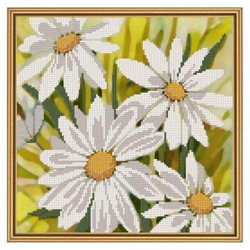 """Тканина зi схемою для вишивки бiсером """"Білі зірочки"""""""