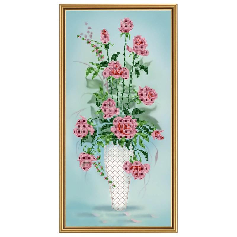 """Nova Sloboda - Тканина зi схемою для вишивки бiсером """"Амфора. Букет троянд"""" / фото №1742"""