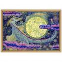 """Ткань со схемой для вышивки бисером """"Небесный дракон"""""""