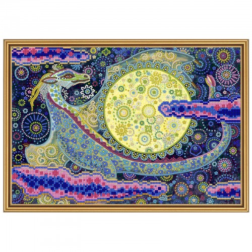 """Тканина зi схемою для вишивки бiсером """"Небесний дракон"""""""