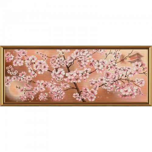 """Набір для вишивки нитками на канві з фоновим зображенням """"Місячна соната"""""""