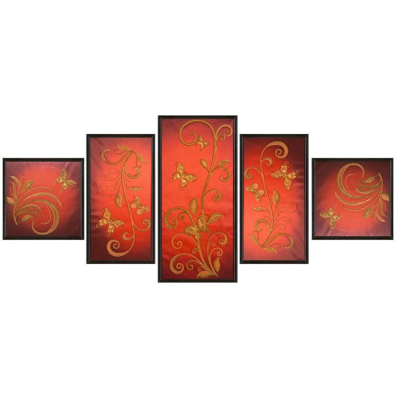 """Тканина зi схемою для вишивки бiсером """"Квітковий шлейф"""""""