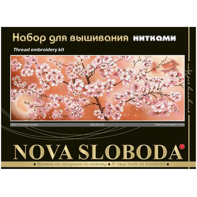 """Nova Sloboda - Набір для вишивки нитками на канві з фоновим зображенням """"Місячна соната"""" / фото №179"""