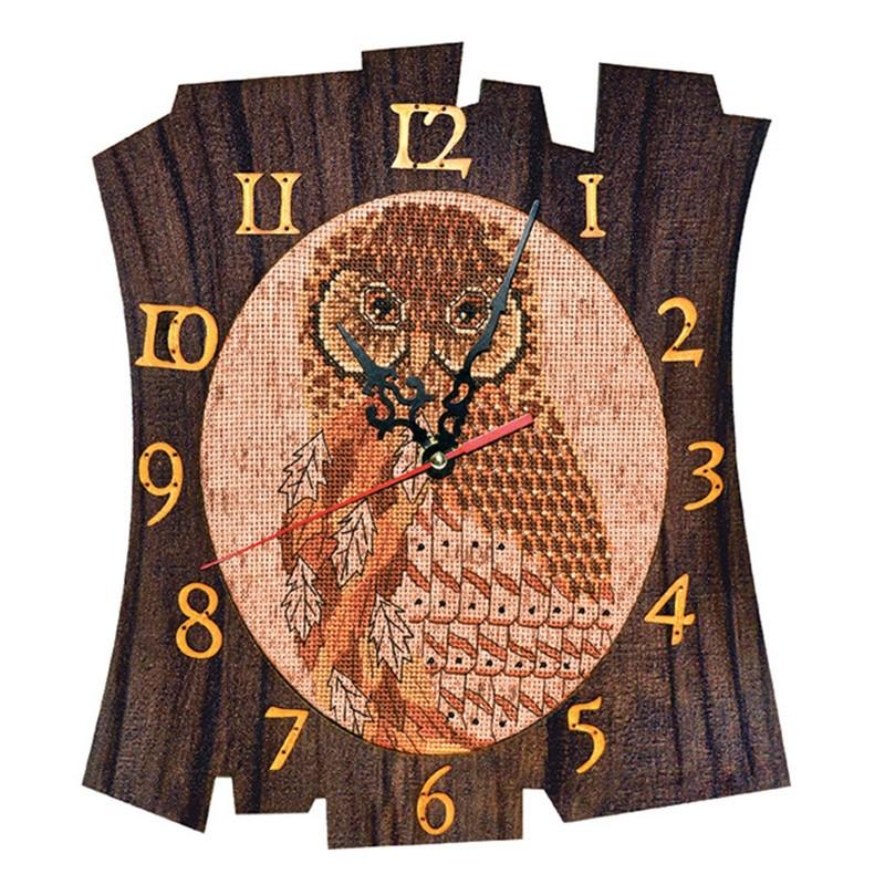"""Набір для створення годинника з вишитою основою """"Час мудрості"""""""