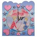 """Набор для создания часов с вышитой основой """"Время любви"""""""