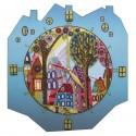 """Набор для создания часов с вышитой основой """"Красочный город"""""""