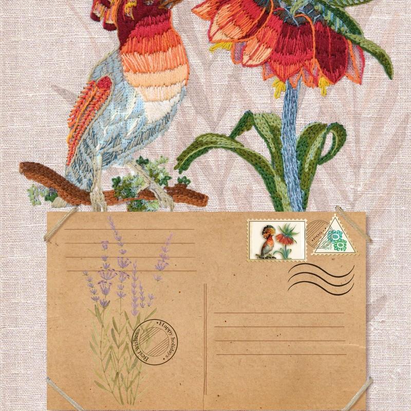 """Nova Sloboda - Набір для вишивки гладдю та спеціальними стібками """"Птахи-листоноші. Вісник миру"""" / фото №1891"""