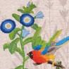 """Набір для вишивки гладдю та спеціальними стібками """"Птахи-листоноші. Вісник віри"""""""