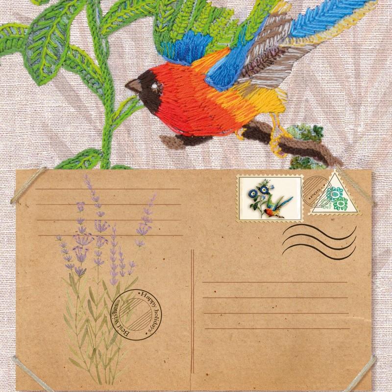 """Nova Sloboda - Набір для вишивки гладдю та спеціальними стібками """"Птахи-листоноші. Вісник віри"""" / фото №1895"""