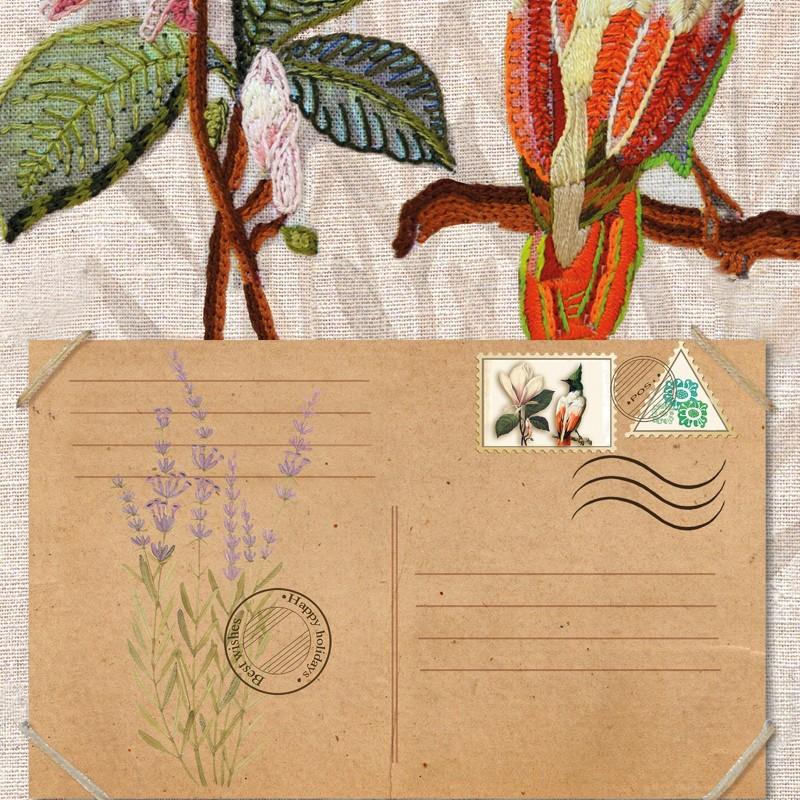 """Nova Sloboda - Набір для вишивки гладдю та спеціальними стібками """"Птахи-листоноші. Вісник надії"""" / фото №1903"""