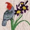 """Набір для вишивки гладдю та спеціальними стібками """"Пташки-листоноші. Вісник любові"""""""