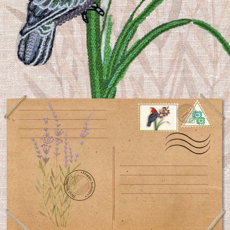 """Nova Sloboda - Набір для вишивки гладдю та спеціальними стібками """"Пташки-листоноші. Вісник любові"""" / фото №1907"""