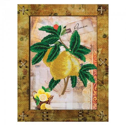 """Набір для вишивки на полімерній перфорованій основі Perfostitch """"Фрукти. Лимон"""""""