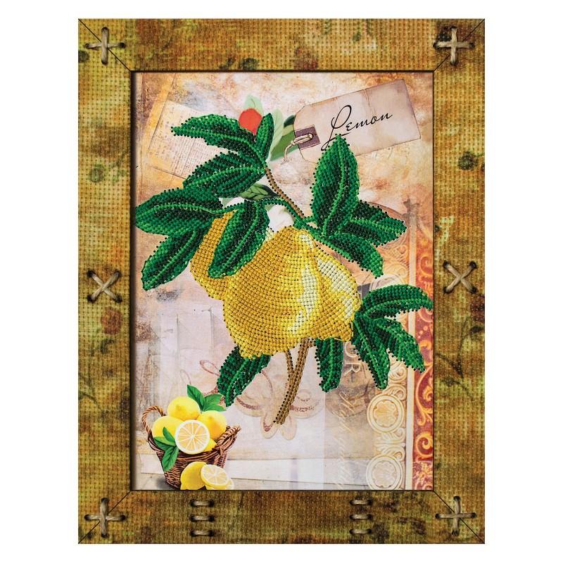 """Набори для вишивки на полімерній перфорованій основі Perfostitch """"Фрукти. Лимон"""""""
