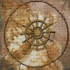 """Набір для вишивки нитками на канві з фоновим зображенням """"Морська подорож"""""""