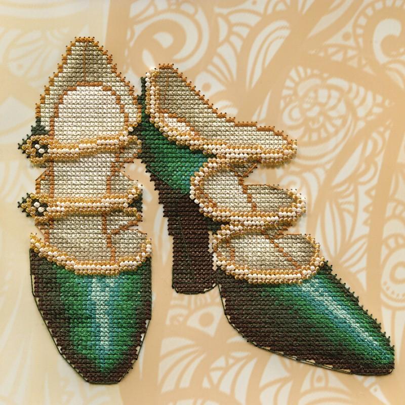 """Nova Sloboda - Набір для вишивки на полімерній перфорованій основі Perfostitch """"Смарагдова колекція. У ритмі танго"""" / фото №2002"""