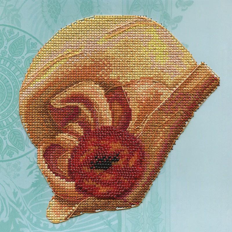 """Nova Sloboda - Набір для вишивки на полімерній перфорованій основі Perfostitch """"Бурштинова колекція. Зірка екрану"""" / фото №2015"""