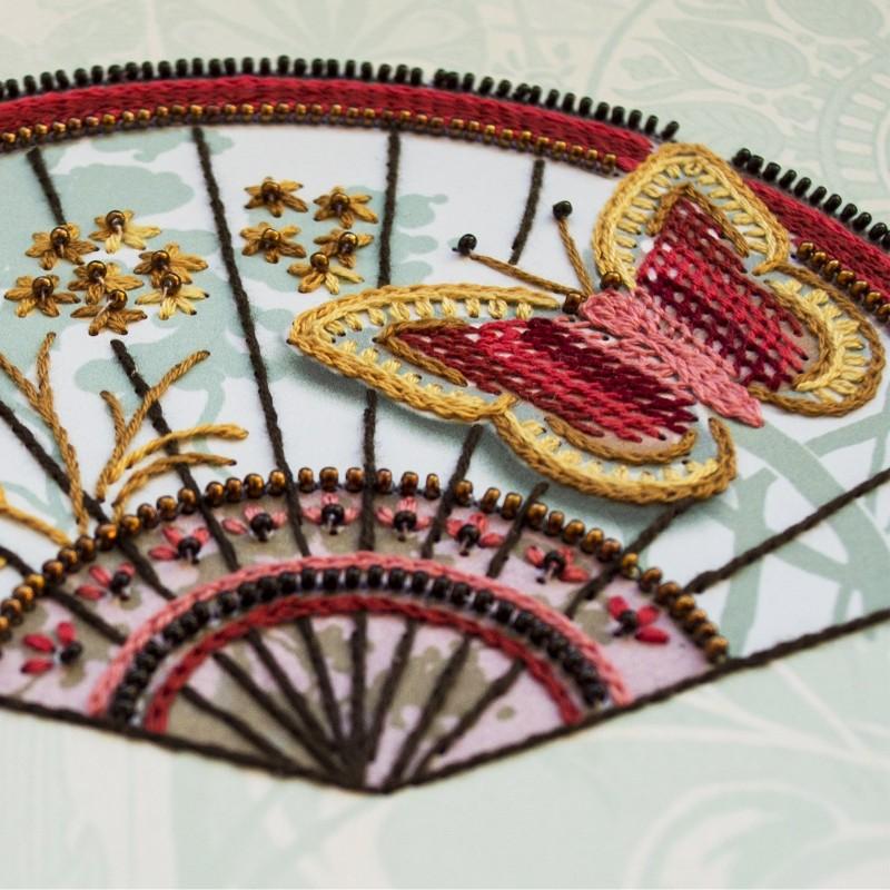 """Nova Sloboda - Набір для вишивки на полімерній перфорованій основі Perfostitch """"Рубінова колекція. Візит незнайомки"""" / фото №2022"""
